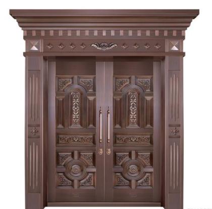 别墅的铜门有什么显著的特点