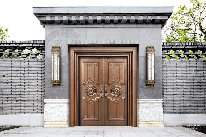 论别墅铜门的高颜值观赏性和保养