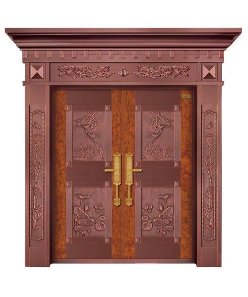 真铜门定制厂家:铜门安装方法和维护保养