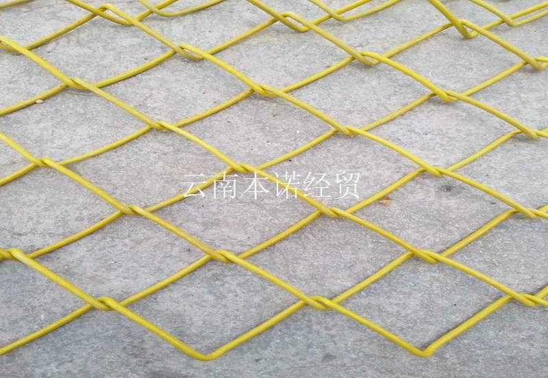 黃色勾花網產品