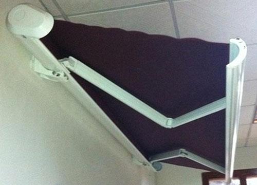 重型曲臂遮阳蓬安装