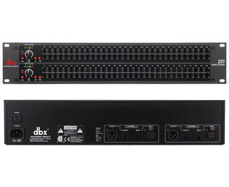 DBX 双31 段恒定Q 频段均衡器 DBX 231