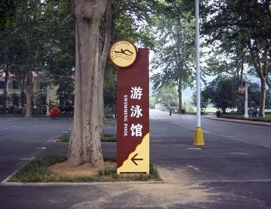 游泳馆指示牌