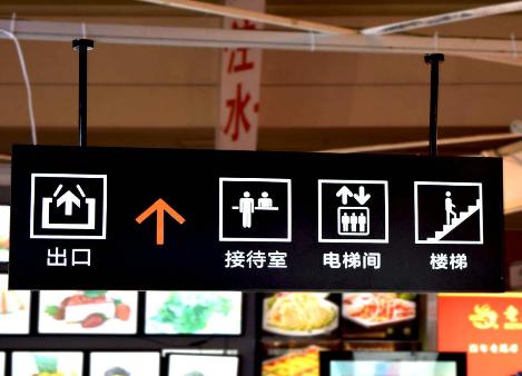 商场指示发光吊牌