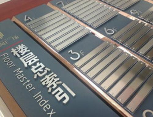 办公楼宇楼层总索引标识系统