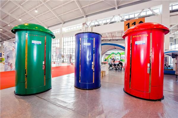 邮筒式生态卫生间的造型