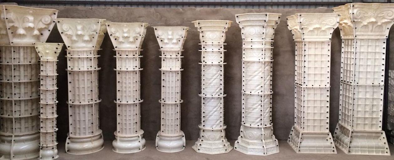 为啥现在农村装修都时薪罗马柱模具