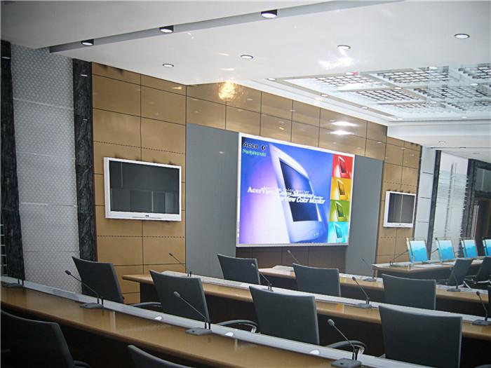 云南弱电工程之绿春政府会议系统施工
