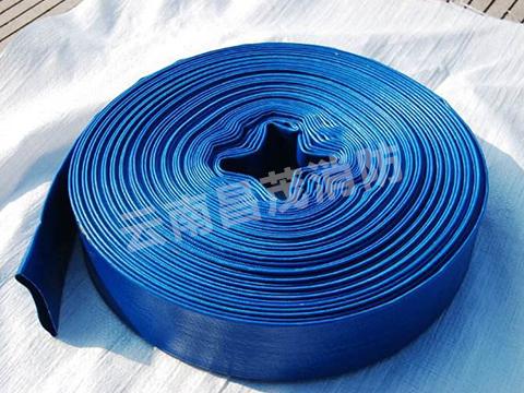 蓝色消防水带