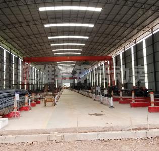 建筑工地钢筋棚