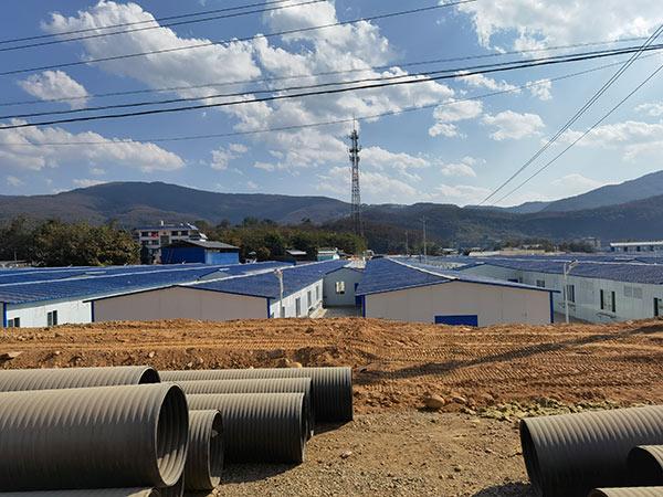 云南孟连县勐阿应急留观点活动房项目搭建现场