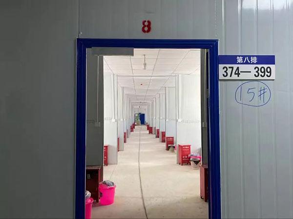 云南孟连县勐阿应急留观点活动房项目活动房过道(图二)