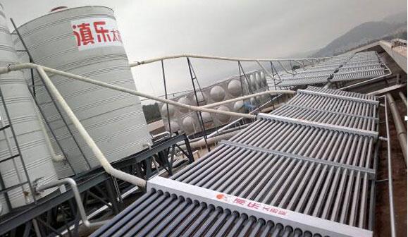 太阳能热水器安装案例(省军区教导大队)