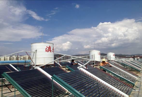 昆明台工集團真空管聯合熱泵智能供熱安裝案例