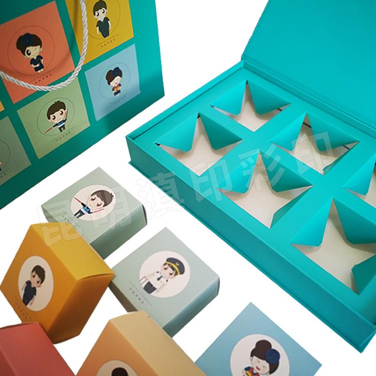 月饼精装书型盒绿6个装-昆明航空