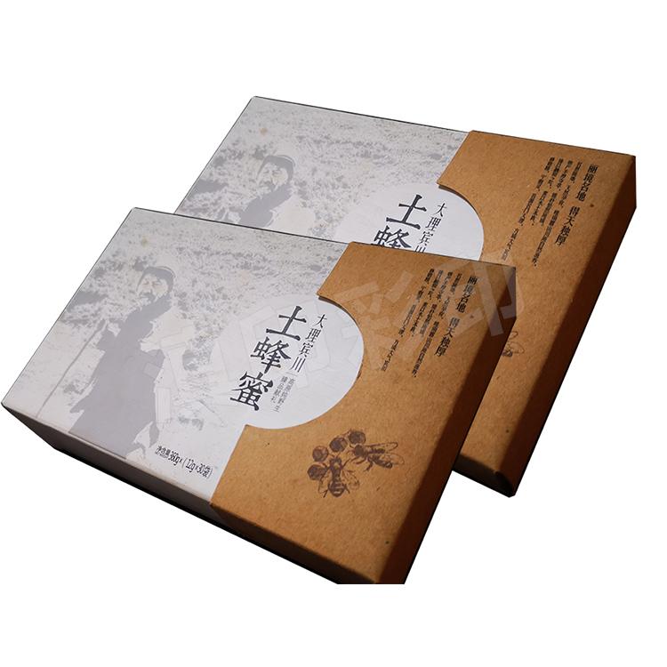 蜂蜜抽拉式纸盒包装