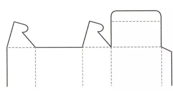 锁口式盒盖结构展开图