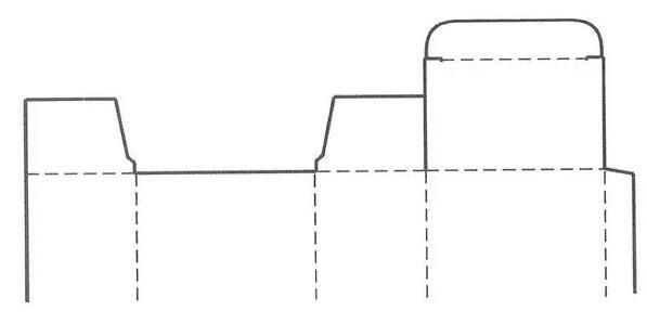 插入摇盖式盒盖结构展开图