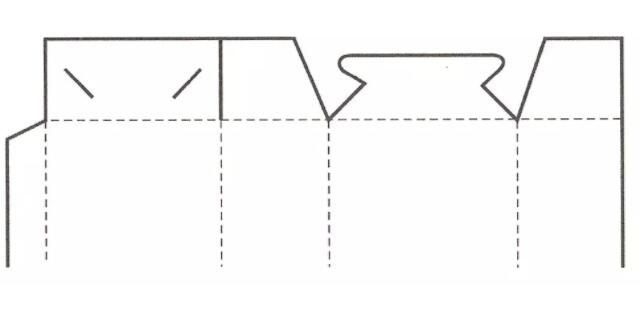 插锁式盒盖结构展开图