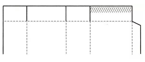 粘合封口式盒盖结构展开图