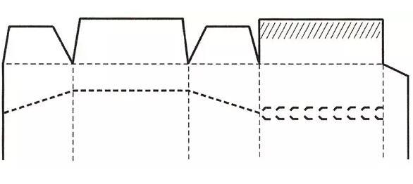 一次性防伪式式盒盖结构展开图