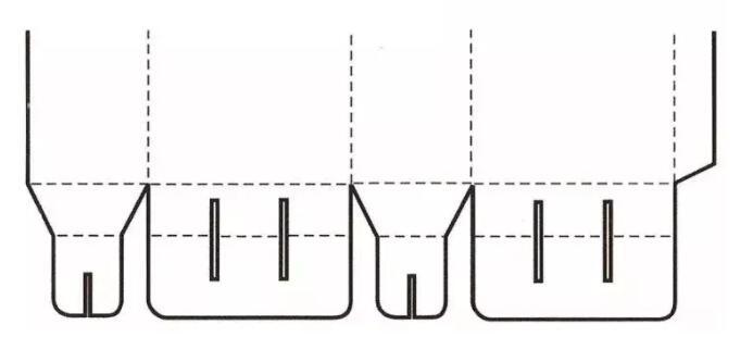 间壁封底式结构展开图
