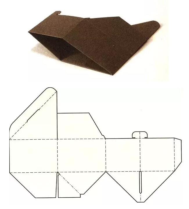 三角形自动锁底盒结构展开图