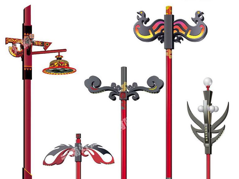 云南太阳能路灯批发公司的常用灯杆设计为钢质锥形灯杆