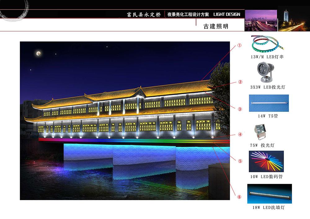 富民县永定桥 夜景亮化方案