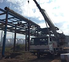 25吨安宁市草铺镇聚丙烯厂新建施工