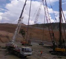 50吨大理市商贸城基础施工