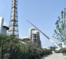 110吨易门县大椿树水泥厂设备安装