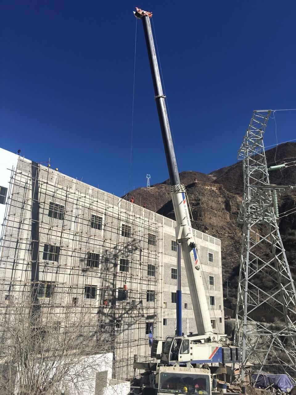 130吨四川甘孜州水电站施工