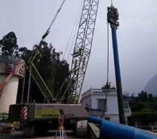 55吨昆明市海埂大坝观景台扩建施工
