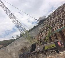 55吨丽江市金安大桥施工