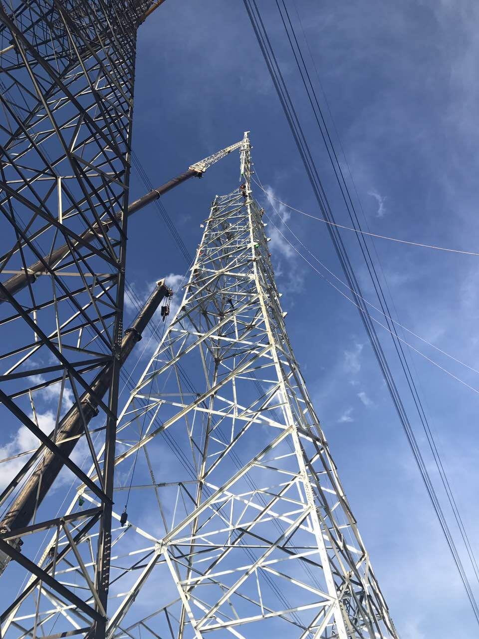 80和110楚雄州禄丰县高压电杆安装