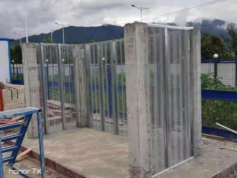 轻型钢网隔墙施工