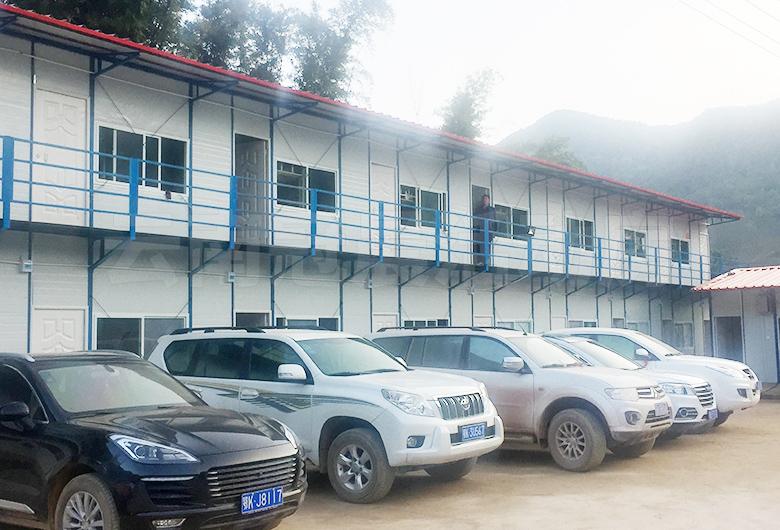 墨临铁路中铁二十四局工区指挥部活动房工程