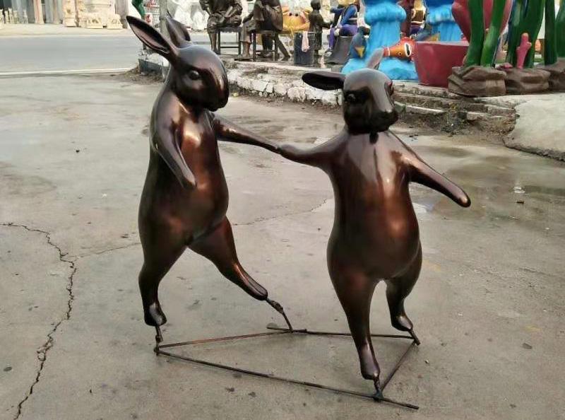 玻璃钢兔子雕塑