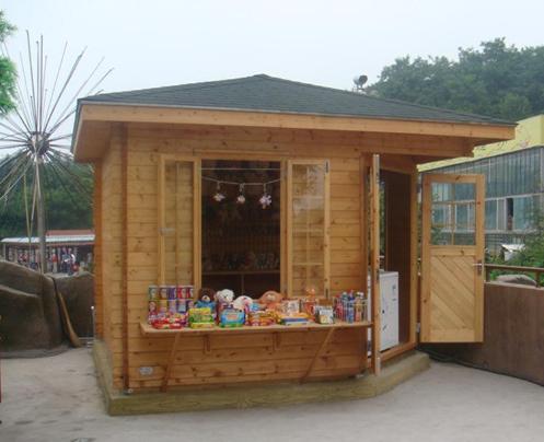 木质售货岗亭