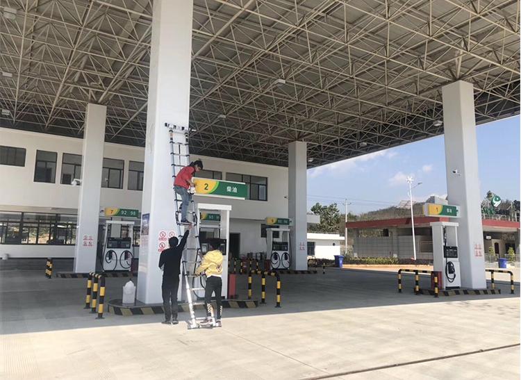 西双版纳加油站监控安装案例