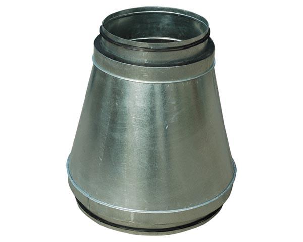 昆明油烟净化器安装公司-双层保温螺旋风管连接件