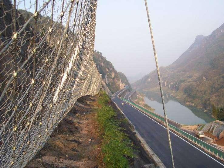 迪庆柔性边坡被动防护网防护系统作用