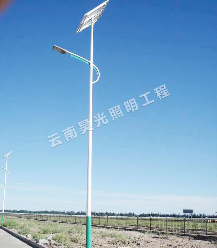 昆明太陽能路燈廠家教你如何確定太陽能路燈燈桿的高度?