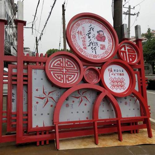 云南铁艺广告宣传栏制作厂家