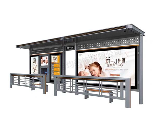 昆明公交车站不锈钢定制广告宣传栏