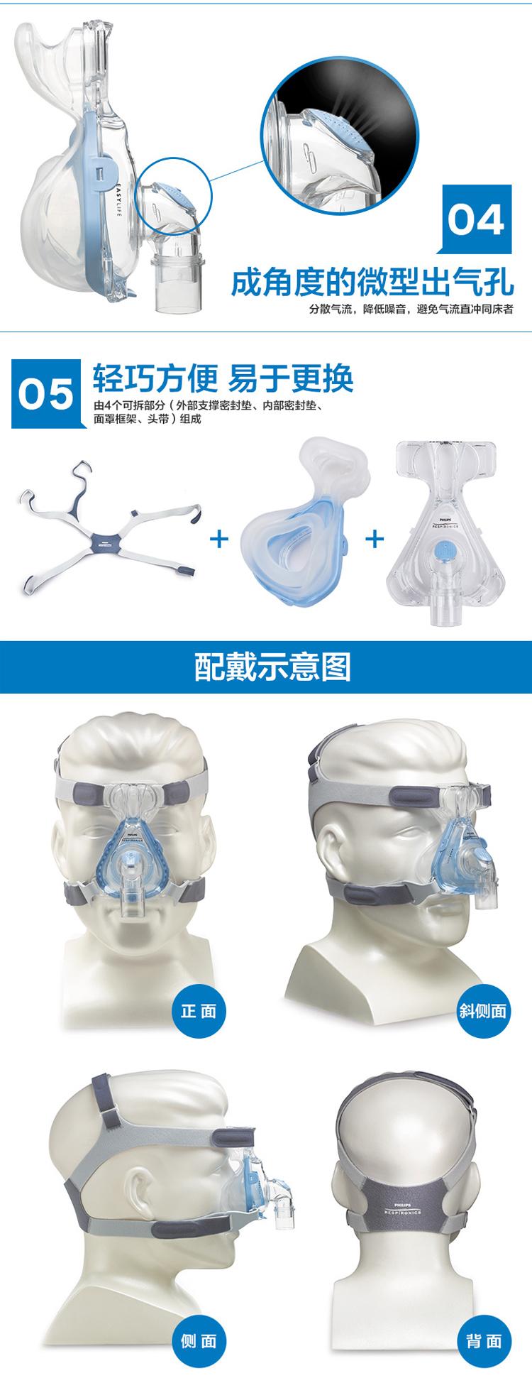 昆明飞利浦呼吸机鼻罩