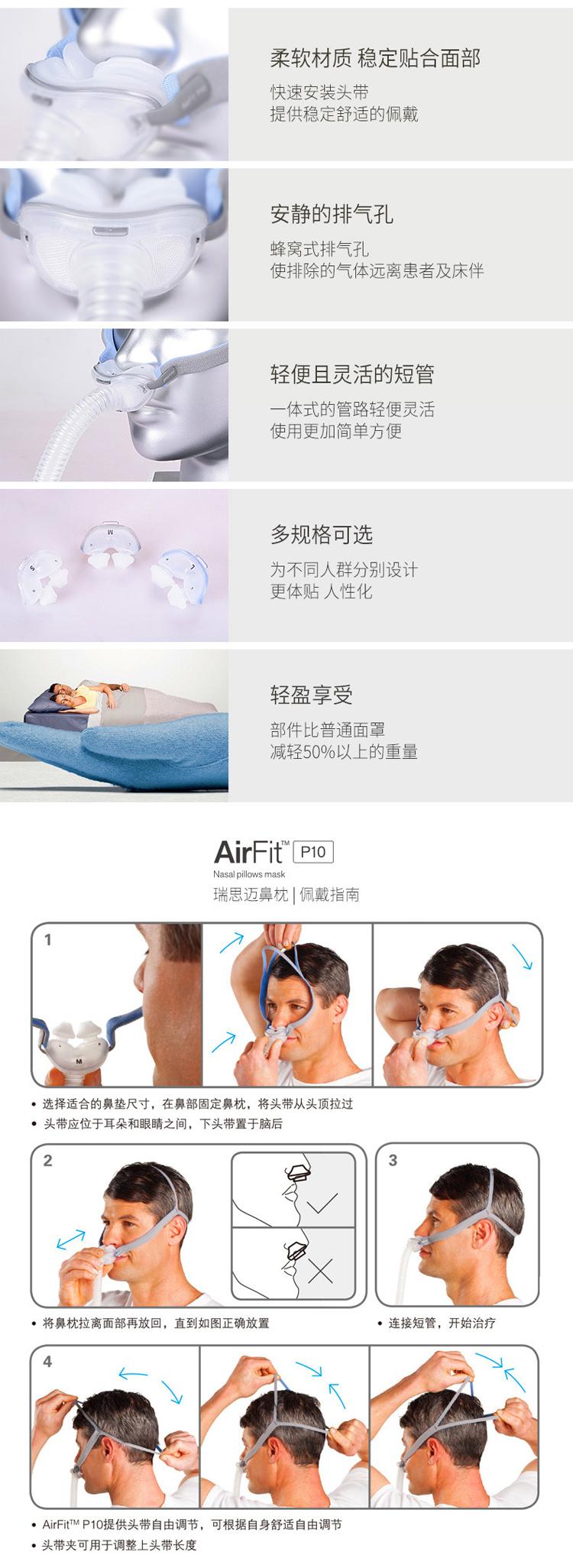 云南瑞思迈呼吸机面罩