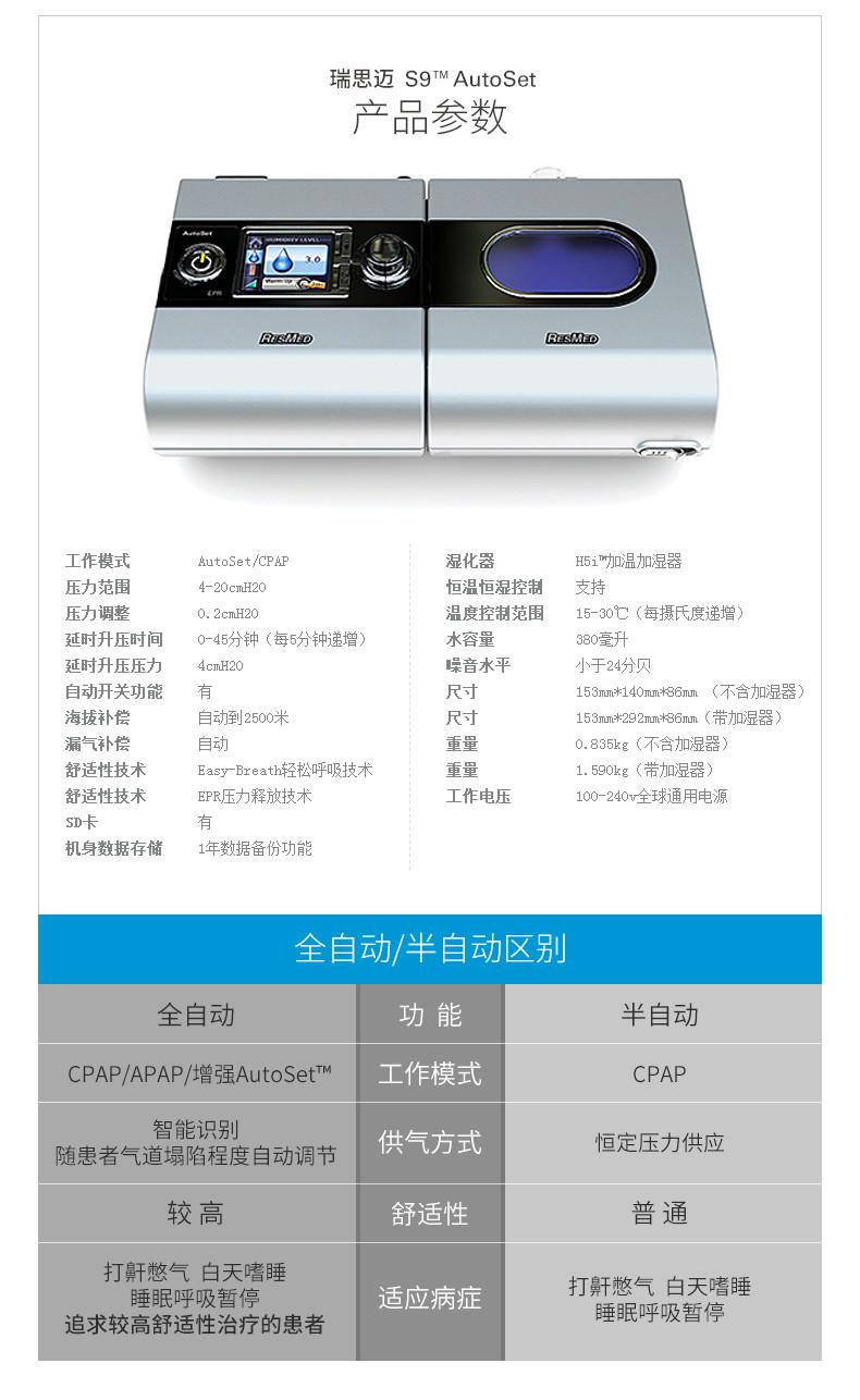 瑞思迈S9呼吸机