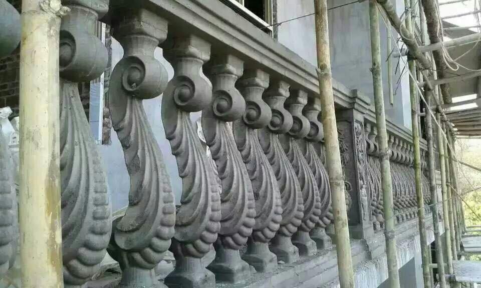云南罗马柱模具花蕊状模具成品图